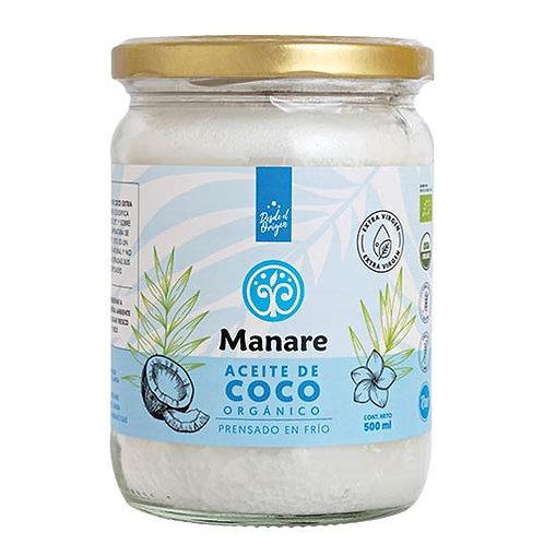Aceite de Coco Orgánico Manare 500ml.