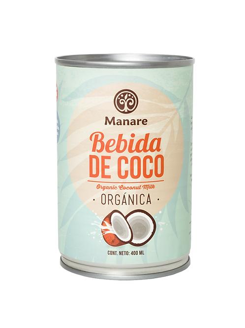 Bebida de coco orgánica Manare 400ml.