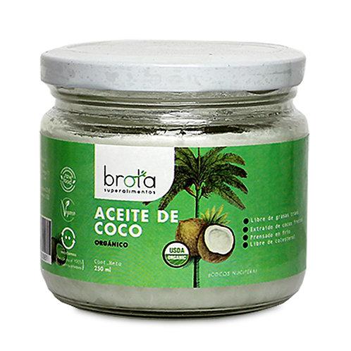Aceite de coco orgánico Brota 250ml.