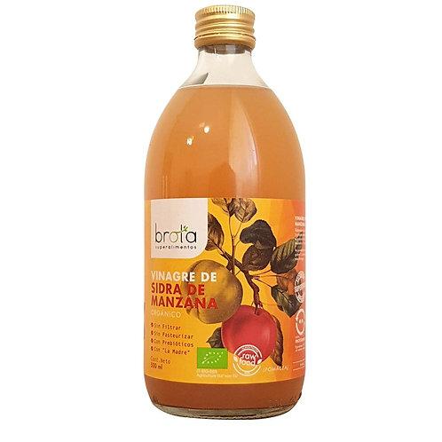 Vinagre de manzana orgánico Brota 500ml.