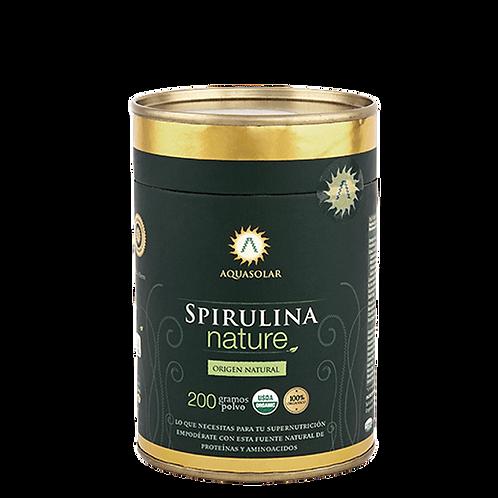 Spirulina orgánica en polvo Aquasolar 200g.