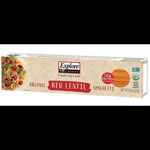 Spaghetti orgánico de lenteja roja Explore Cuisine 227gr.