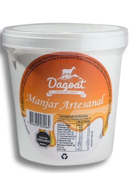 Manjar Artesanal de Leche de Cabra 400g.