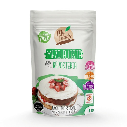 Mezcla lista sin gluten para repostería My Foods 1k.