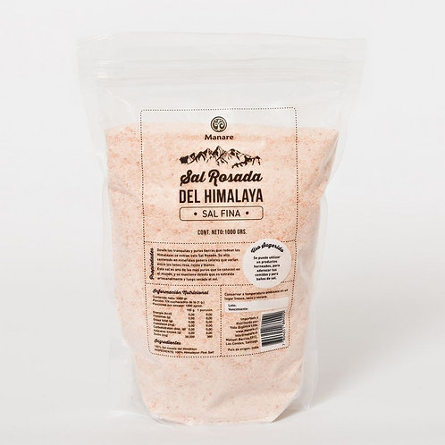 Sal rosada del Himalaya fina Manare 1k.