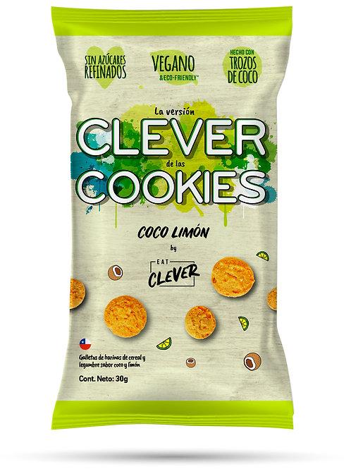 Galletas saludables Coco limón Eat Clever 30g.