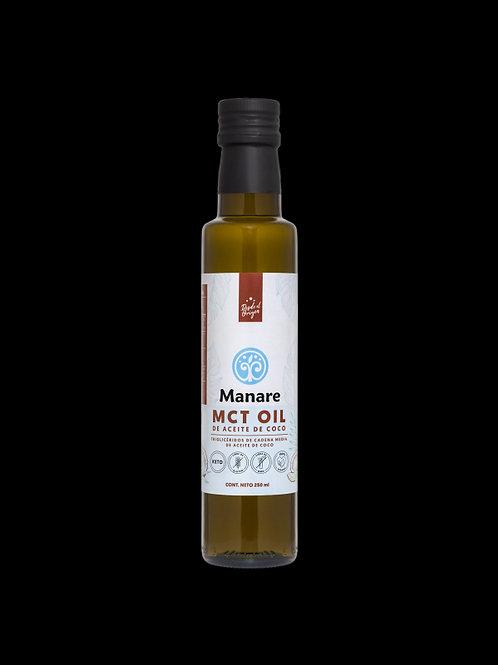 Aceite de coco MCT Manare 250 ml.