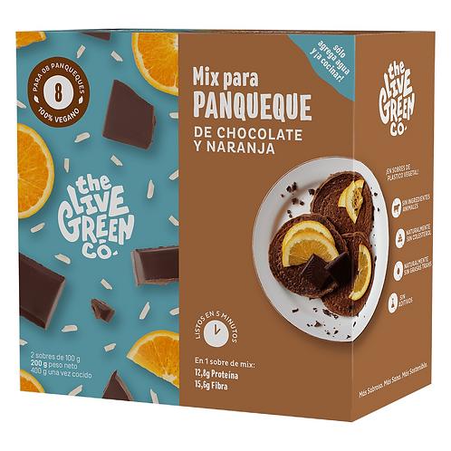 Mezcla para panqueques de chocolate y naranja