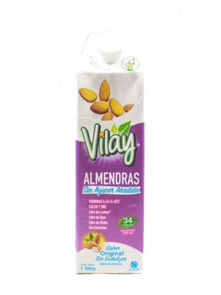 Leche de almendras sin azúcar Vilay 1 litro