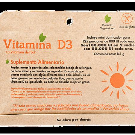 Vitamina D3 en polvo Dulzura Natural