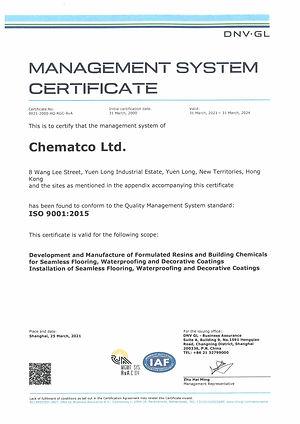ISO 9001 for Epoxy Flooring