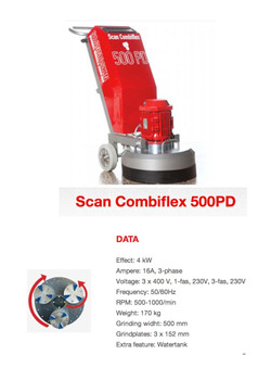 Scanmaskin 500PD planetary grinder