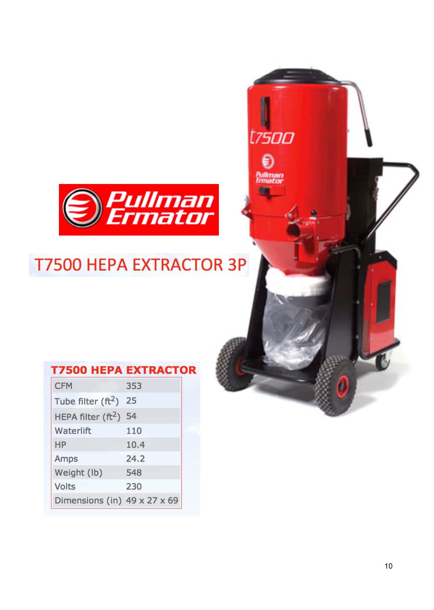 Ermator T7500 HEPA Dust Collector