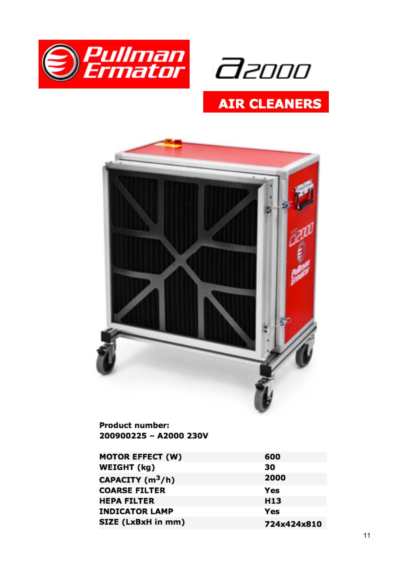 Ermator A2000 HEPA Dust Extractor