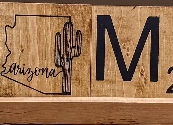 Arizona Scrabble Home with Stand