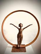 Sculpture Caro Sorez-Fache avec cercle p