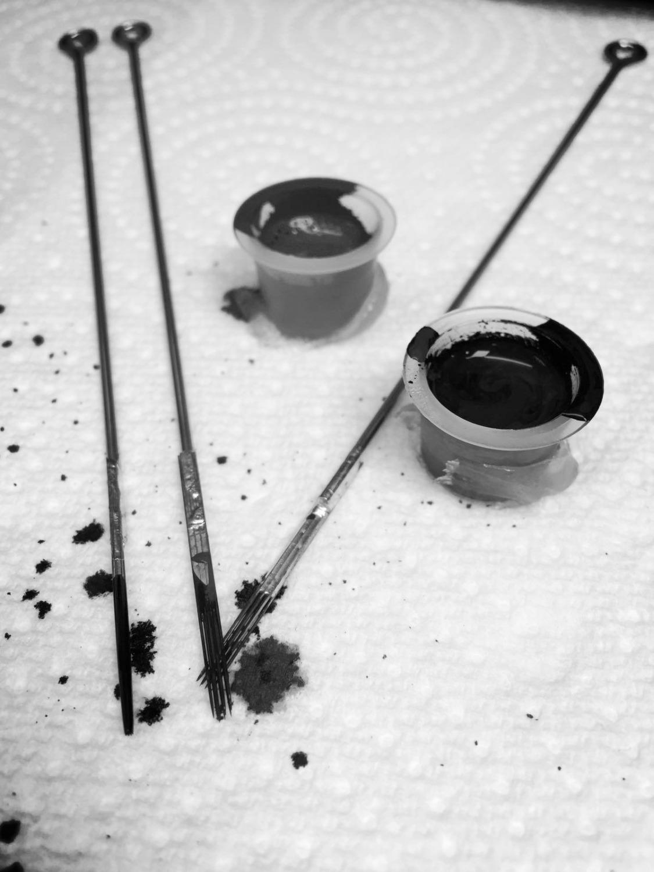 Ink Cups w/ Tattoo Needles