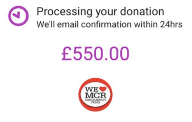 Raising Money for Manchester!