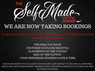 Now Taking Bookings