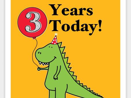 3 YEARS!