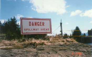 large warning sign