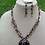 Thumbnail: Brown Bead Necklace Earring Set,Item #  10097