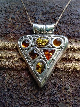 Item # 10129  .925 Baltic Amber Pendant