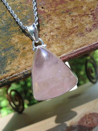 Rose Quartz Pendant Necklace, Item # 10186