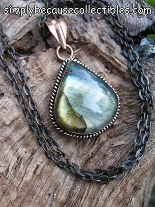 Item # 10174   Copper Labradorite Pendant