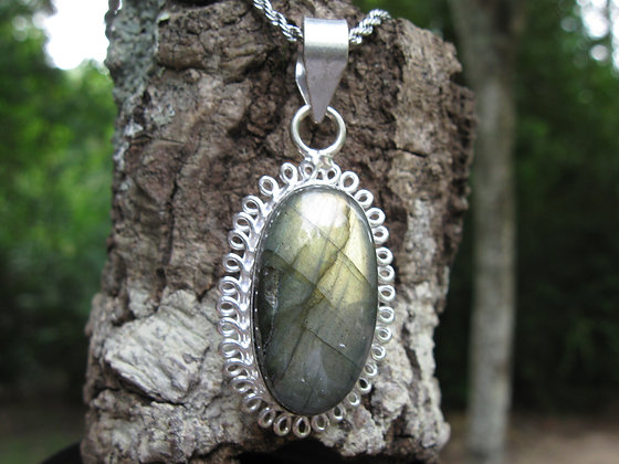 Labradorite Pendant Necklace, Item # 10133