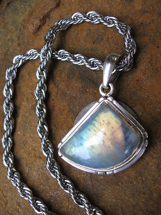 `SOLD`  Moonstone Pendant Necklace, Item # 10131
