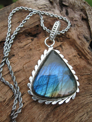 ~SOLD~Blue Labradorite Pendant, Item # 10176