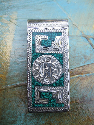 Turquoise Inlay Money Clip ~ Item 10035A
