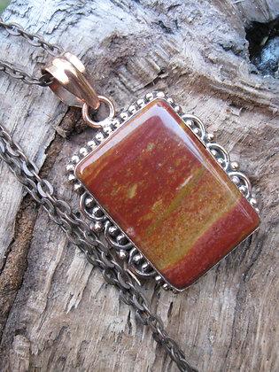 Red Jasper Copper Pendant  Item # 10190