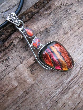 Item # 10087  .925 Dichroic Glass Pendant