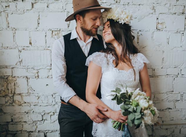 Tenues de mariage rustique chic