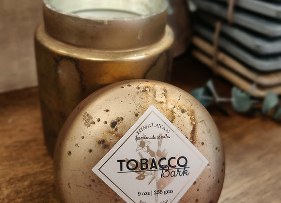 Tobacco Bark Soy Candle - Gold Jar