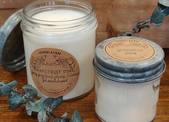 Grapefruit Pine Soy Candle - Curiosity Jar