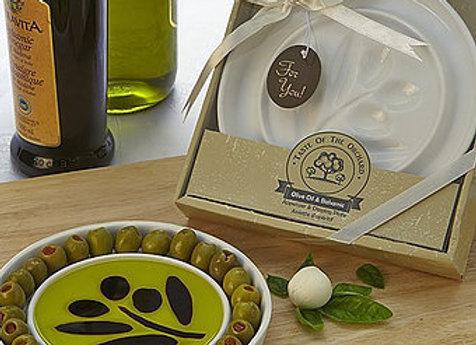 Taste of the Orchard Oil Vinegar Appetizer Plate