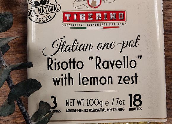 Risotto with lemon zest