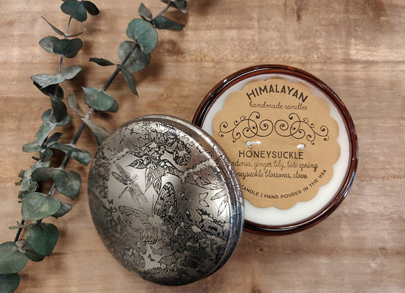 Honeysuckle Soy Candle - Powder Puff Tin