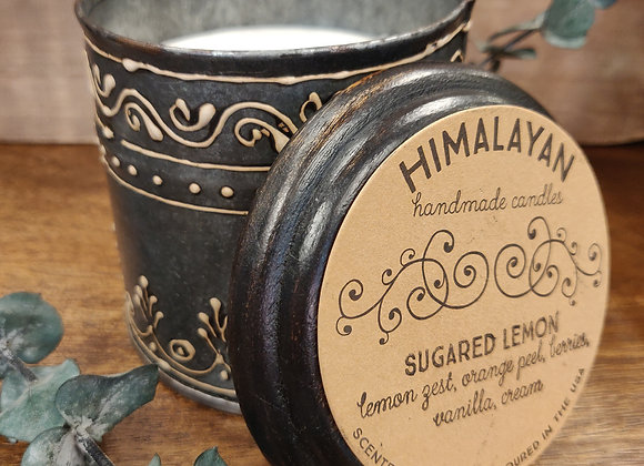 Sugared Lemon Soy Candle - Painted Tin