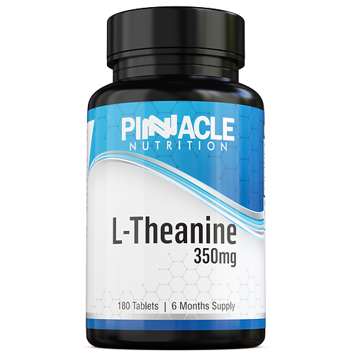 L-Theanine 350mg - Amino Acid Sourced from Green Tea Leaves
