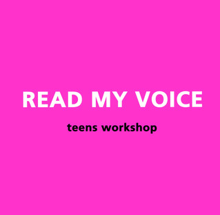 READ MY VOICE / teens workshop @Vorres Museum