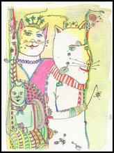 Three Royal Cats