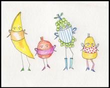 Fruit Wearing Masks