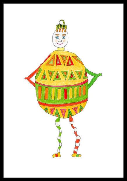 Holiday Ornament: Boy