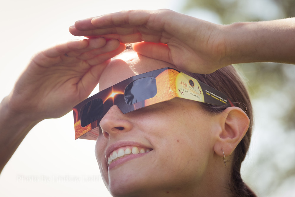 Eclipse glasses protect human's eyes when viewing the sun