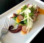 stella grilled Octopus with orange segments fennel salad