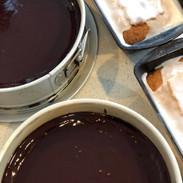 chocolate torte and lemon poundcake